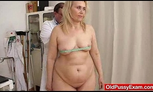 Blond-haired fat milf explored before end of one's tether cookie weaken