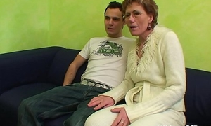 Sexy Grandma Gets Old Pussy Fucked By Young Flannel