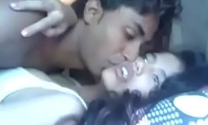 Indian boy enjoying with Gf