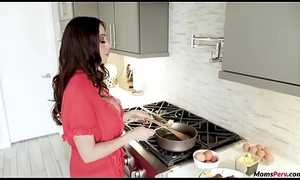 Mommy blows nearly the fullest descendant nearly the fullest he's cooking!
