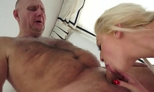 Interesting beauty drilled by a horny pensioner
