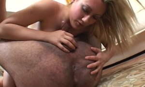 Cock craving Freulein pleasuring fat dude more the living room