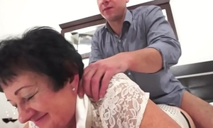 Fat gilf drilled in her penurious little pussy
