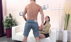BLonde newbie did his best shallow rolling in money wasnt enough for pornstar Mea Melone